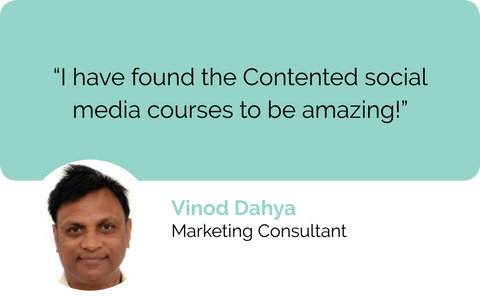 Contented social media courses, digital marketing courses and content marketing courses are amazing says freelance copywriter and technical writer, Vinod from India