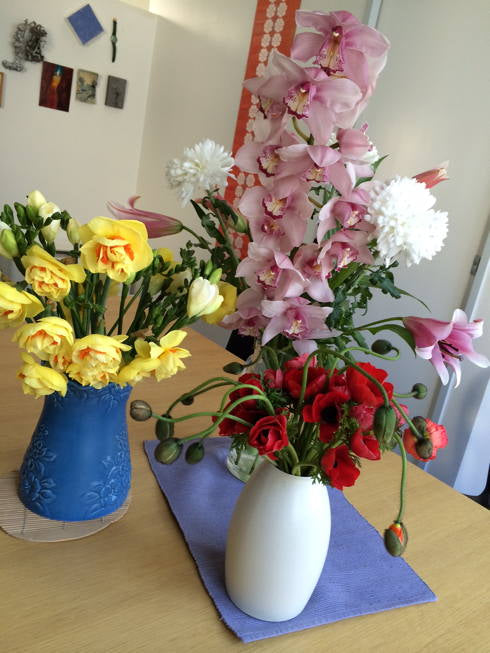 birthday flowers for Contented, September 2014