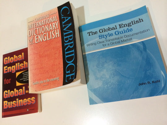 3 Global English books: introduction, dictionary and style guide.