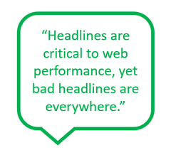 Web headlines are critical to search engine optimization and search rankings