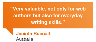 Jacinta Russell, Australian Council: Contented courses are very valuable, not only for web content authors but also for everyday business writing skills