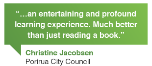 Christine Jacobsen, Porirua City Council, New Zealand: Contented online writing courses gave me an entertaining and profound learning experience. Much better than just reading a web content book.