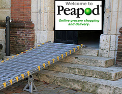 Wheelchair ramp to online grocery store