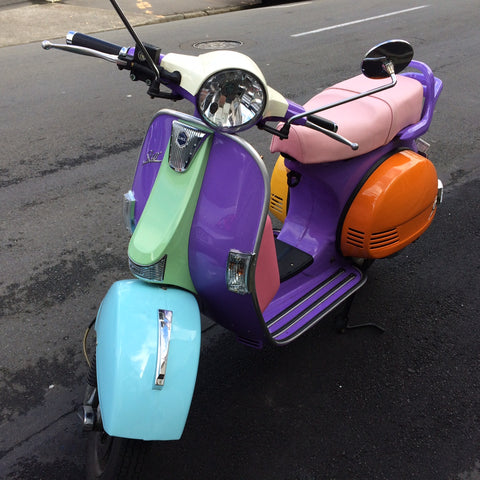 LML Star Euro scooter in the Contented colours