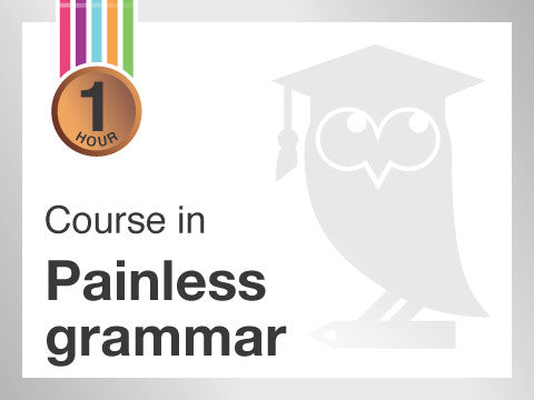 Course in Painless grammar from Contented.com for New Zealand, Australia, Canada, the USA, the UK, Europe, Canada, China, India, Malaysia, Indonesia, Singapore, Thailand