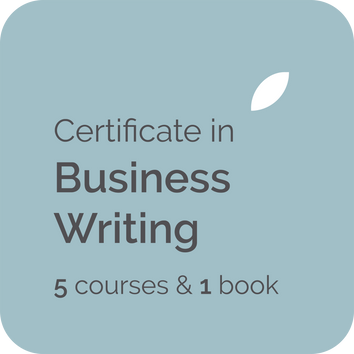 Online courses and elearning training and business writing book on how to write in plain, clear business English and global English for professional business writers in the UK, USA, India, Canada, NZ, Australia
