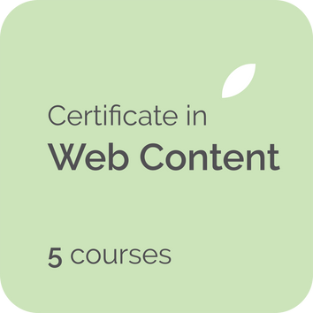 Certificate in web writing online course training for freelance copywriters, web content writers, staff professional development, content managers in the UK, USA, Canada, NZ, Australia