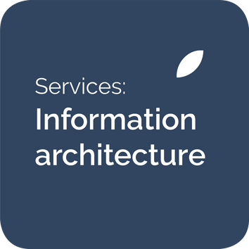 Information architecture services, menu structures and menu design and navigation design for websites, intranets and apps