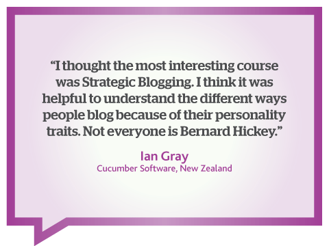 Starting a successful blog is an interesting course says Ian Gray