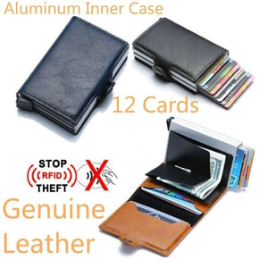 RFID Blocking Vintage Business Wallet Protection Block Best Protect