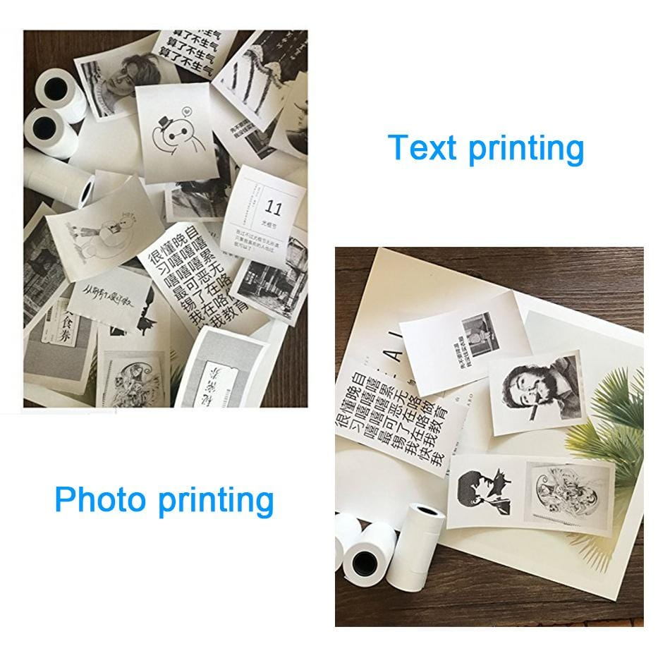 Portable Printer Photo Bluetooth Travel Smartphone Small Scanner iPhone Mobile Mini