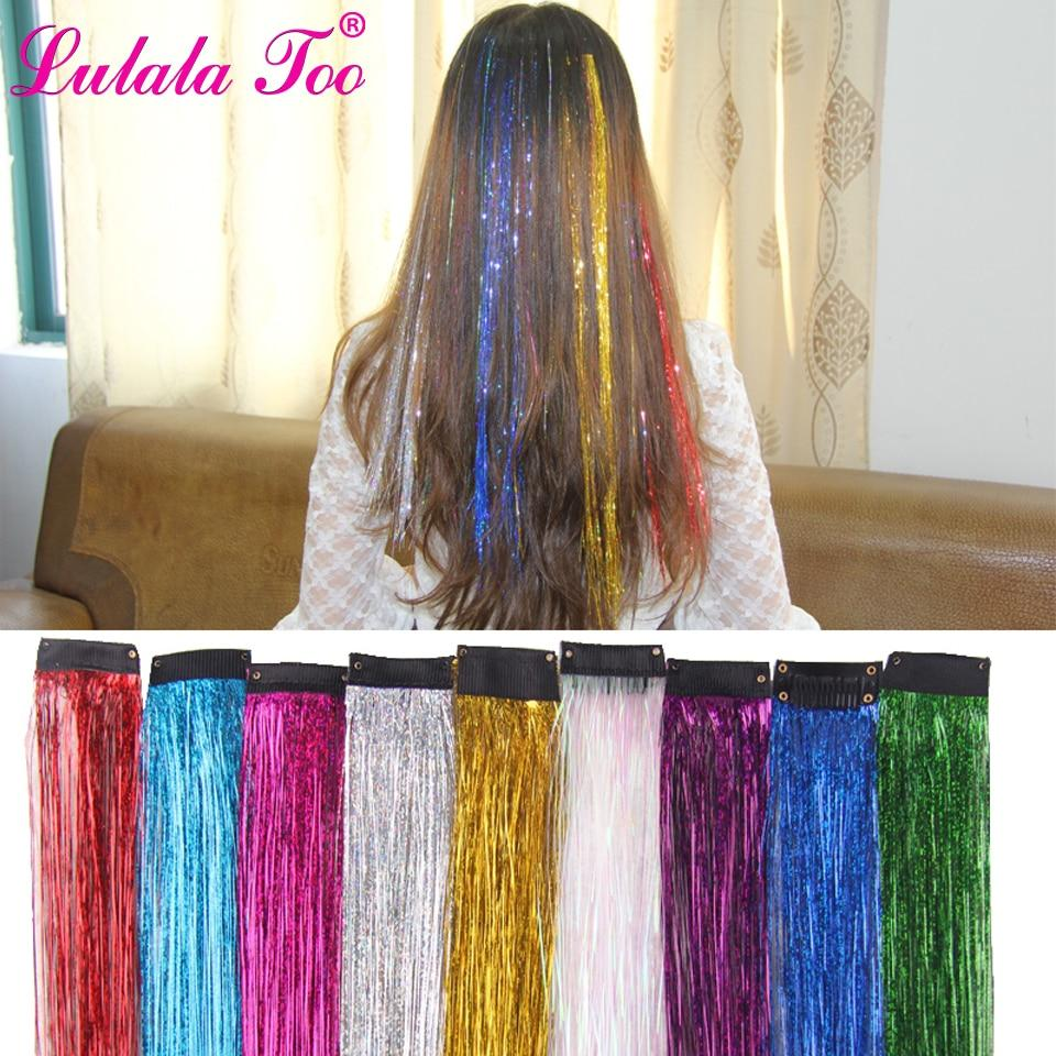 Hair Tinsel Glitter Extensions Strands Fairy
