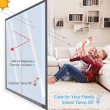 Privacy Window One Way Film Removable Glass Peel And Stick Day Night Mirror Tint Decorative Bathroom