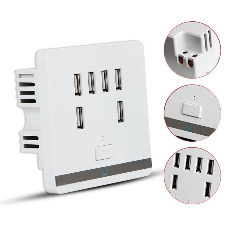 USB Outlet Wall Electrical Charger