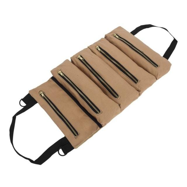Tool Bag Roll Canvas Organizer - Up Small Rolling Canvas Electrician Pouch
