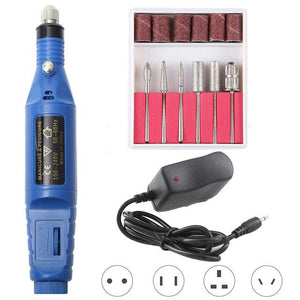 Electric Nail File Drill Professional Buffer Toenail Acrylic Machine Portable Kit
