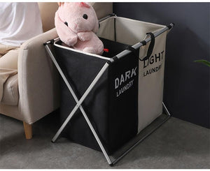 Laundry Sorter Organizer Basket 3 Bag Separator Hamper Section 2 Bag Triple Home Sort