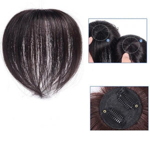 Hair Toppers - 100% Human Hair Topper Clip On Curly Pieces Thinning Women Crown Short Real Short Wigs Head