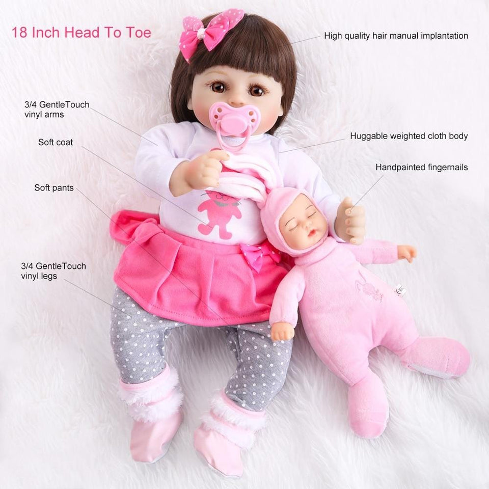 Realistic Baby Dolls That Look Real Boy Girl Babies Doll Lifelike Newborn Silicone Kids Adults