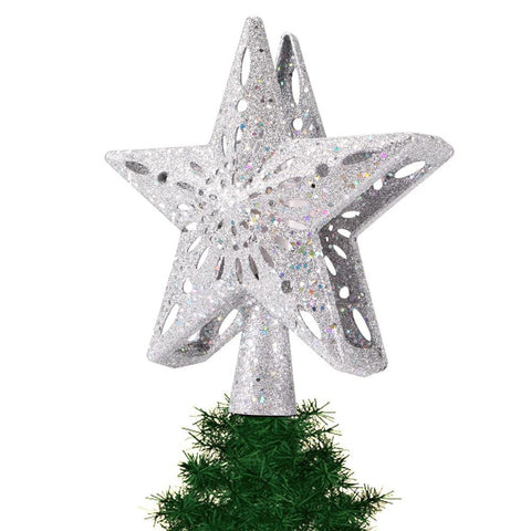 Projection Christmas Tree Topper Star LED Light Up Lighted Project