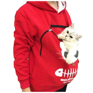 Cat Pouch Hoodie Carrier Sweatshirt Pocket Pet Hoodies