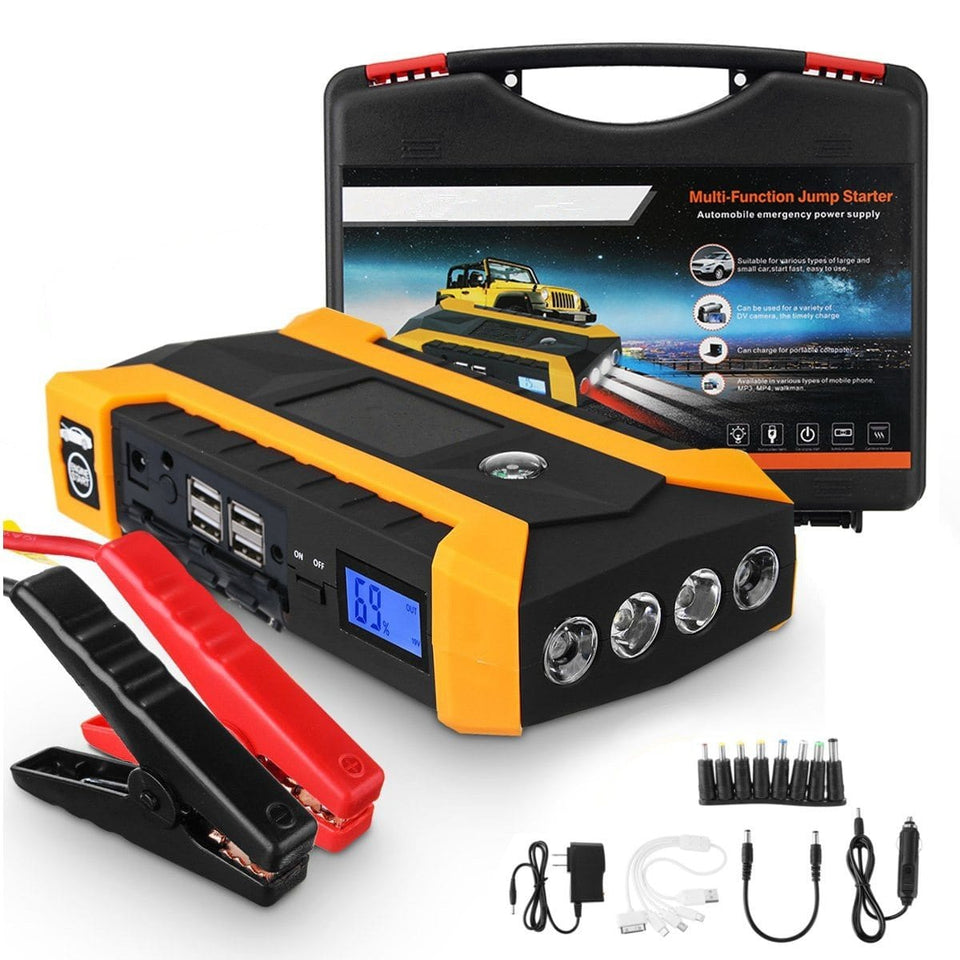 Portable Jump Starter Car Pack Jumper Cables Cable Type S Starter Start Box Battery Bank Auto