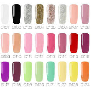 Dip Powder Nails At Home Acrylic Set Colored Nail Gel Pink Blue Polish White Black Orange Yellow Green Glitter Purple Rose