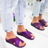 Women Bunion Correction Sandals Flat Sandals Slipons For Feet - fashion sandals for bunions