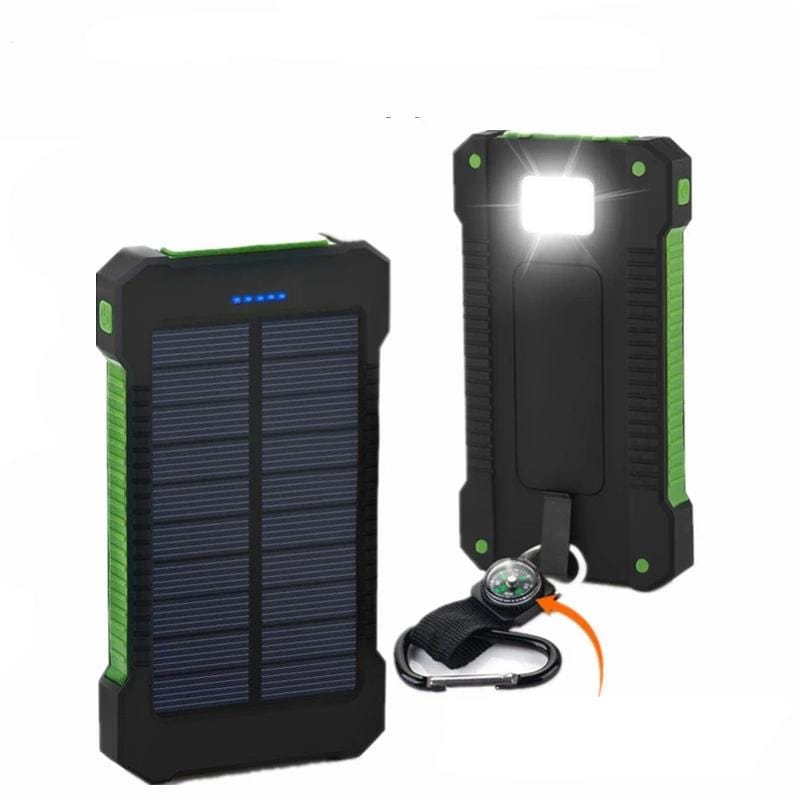 Solar Battery Charger Power Bank USB Powered Panel Charge Phone Portable Backpacking
