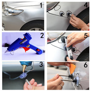 Car Body Dent Puller Aluminum Balance Bridge Set Tool Auto Hail Pit Repair Kit US/EU Plug Car Paintless Dent Repair Tools