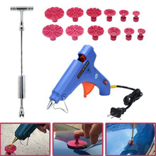 Load image into Gallery viewer, Car Body Dent Removal Kit, 49pcs Paintless Dent Repair Tools - T Bar Puller, Glue Gun, Glue Sticks, Glue Pulling Tabs, Scraper, Cloth