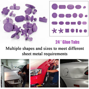24pcs Purple Mixed Pulling Drawing Gasket Tool of Car Paintless Dent Repairing Tools of Auto
