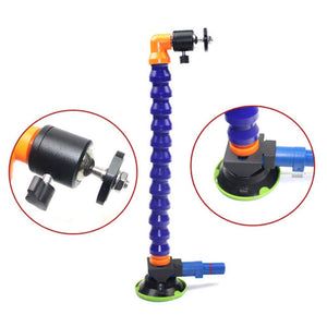 3 inch Heavy Duty Hand Pump Suction Cup with Flexible Gooseneck Pipe and 360 Degree Stand Tripod's Hand Tools Kits LED Lamp Holder Car Dent Reparing Tool