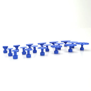 18pcs Blue Mixed Pulling Drawing Gasket Tool of Cars Paintless Dent Repair Tools of Auto