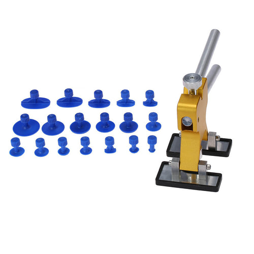 Auto Dent Removal Tool Puller Kit, Car Body Paintless Dent Gold Lifter with 18pcs Repair Tabs
