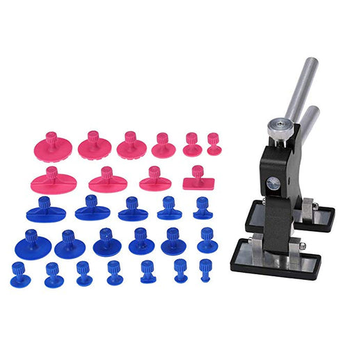 Car Body Paintless Dent Lifter Repairing Tool Puller with 28pcs Glue Tabs Hail Removal Tool