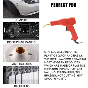 Handy Plastics Welder Garage Tools Hot Staplers Machine Staple PVC Repairing Machine Car Bumper Repairing Hot Stapler Welding Tool AC