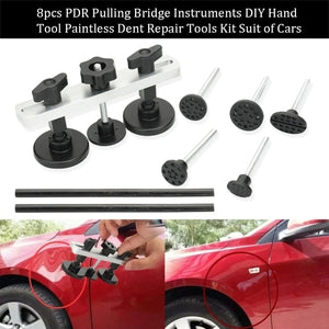 6pcs Paintless Dent Repair Pulling Bridge Instruments DIY Hand Tool Paintless Dent Repair Tools Kit Suit of Cars