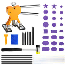 Load image into Gallery viewer, 43pcs Car Body Paintless Dent Repair Tool, Dent Removal Repairing Kit Lifter Hammer Tap Down Tools Mixed Pulling Drawing Gasket Glue Tab
