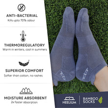 Load image into Gallery viewer, Bamboo Men Ankle Socks - 5 Pairs