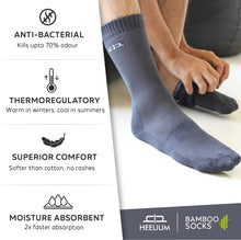 Load image into Gallery viewer, Bamboo Men Crew Socks - 2 Pairs