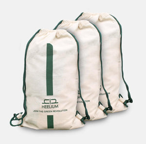 DRAWSTRING BAG - Set of 3 - Heelium
