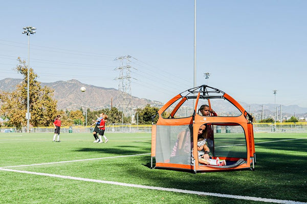 The Perfect Play Yard for Soccer Moms