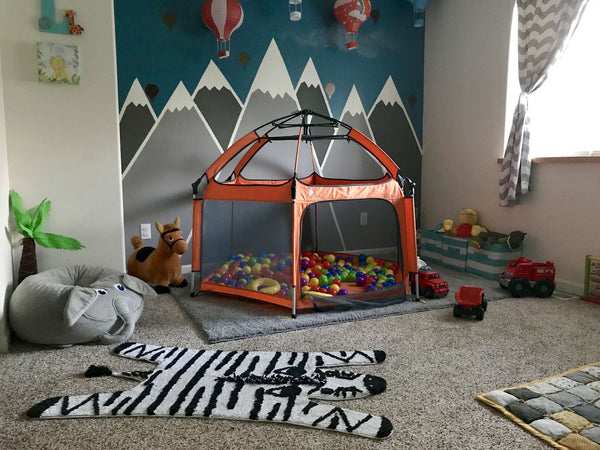 A Playpen for Indoor and Outdoor Use