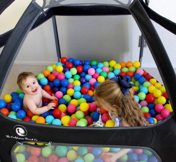 Make a Home-Made Ball Pit With The Pop N Go Playpen