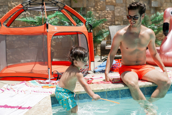 Travel Play Area: Why You Need this Item Poolside