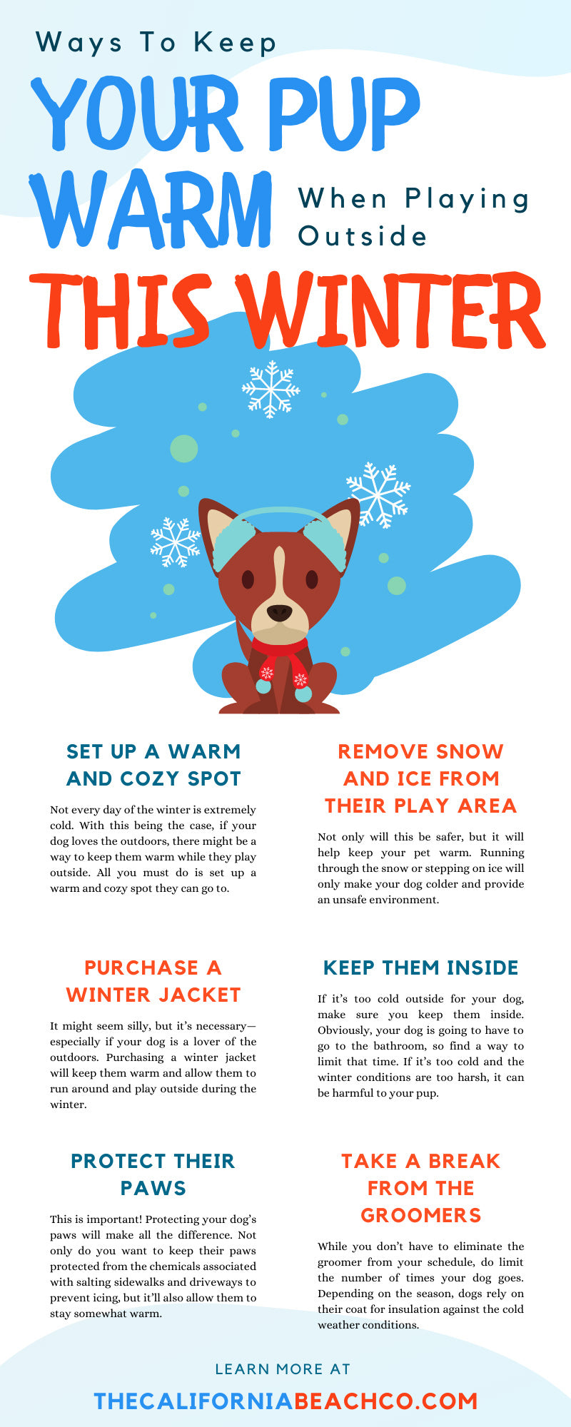 Ways To Keep Your Pup Warm When Playing Outside This Winter