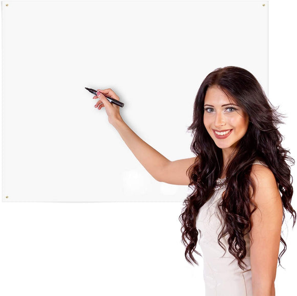 Delane Dry Erase Whiteboard Sheet, Alternative to Heavy Dry Erase Board, Better Than Erasable Decals and Stickers, Medium (24 X 36-Inches), Flexible