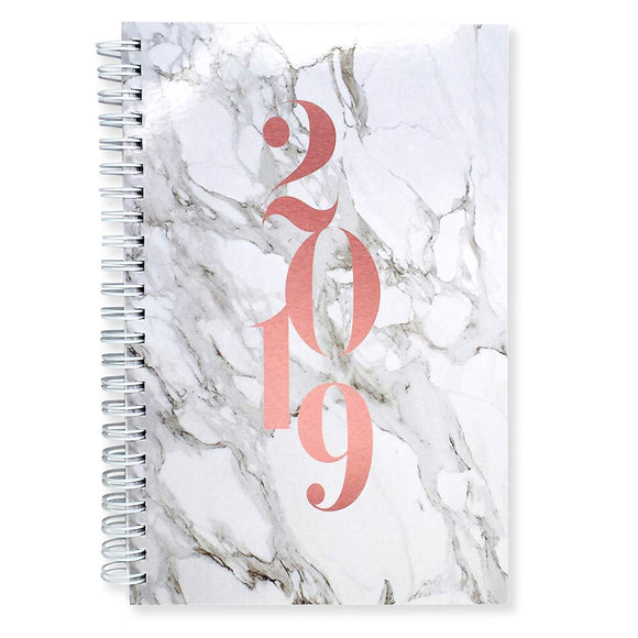 2019 Monthly Weekly Daily Planner Organizer Appointment Book, 5.5 x 8 inches, Purse Size, Premium Paper (AJWP-201)