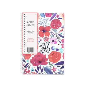 Abrie James Planner 2019-2020 Monthly Weekly Academic Planner, 5.5x8 inches, Floral Student Planner